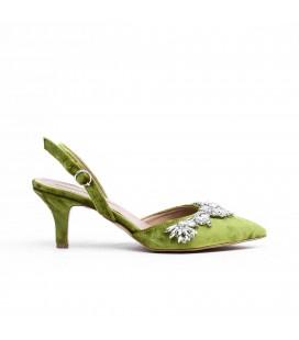 Lutvelizade Hıgh Quenn Kadın Yeşil Yopuklu Ayakkabı 19YW011080005