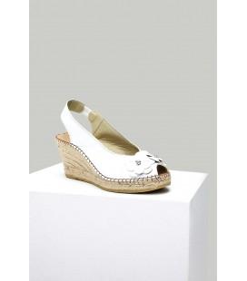 Derimod Kadın Beyaz Topuklu Sandalet 8SFD107218