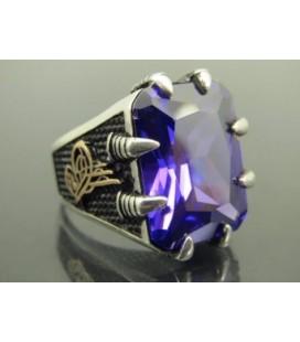Stamboul Jewelry Ametist 925 Ayar Gümüş Yüzün