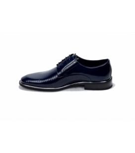 Smart Siyah Rugan Ayakkabı, 2504, Naturel Deri Ayakkabı