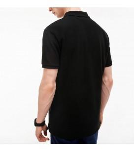 Lacoste Erkek T-Shirt, Slim Fit Siyah, Polo Yaka Tişört, PH4012-031 - T2