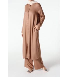 AllDay Kadın Tesettür Giyim Vizon İkili Takım TK80187,