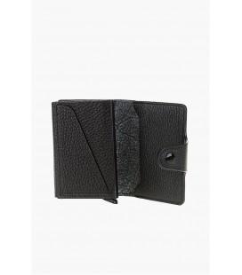 Divarese, Krokodil Desenli Siyah Cüzdan, - 5022944001 - Kredi Kartlık