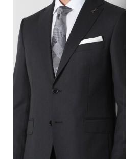 Ramsey Siyah Micro Dokuma Takım Elbise, 10110687-100, - TKM-848