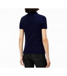 Lacoste Kadın T-Shirt, Lacivert Polo Yaka Tişört, PF7845 166