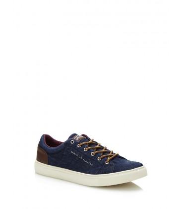 Guess Erkek Ayakkabı, - Luiss Fabric Sneaker, - FmluI1fap12-Denim