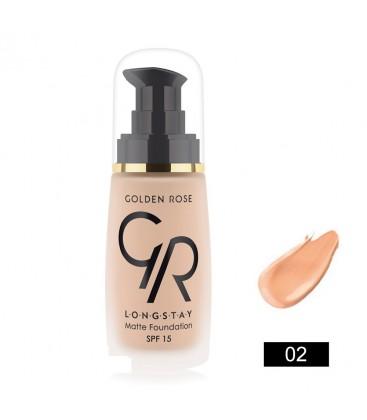 Golden Rose Longstay Matte Foundation 02