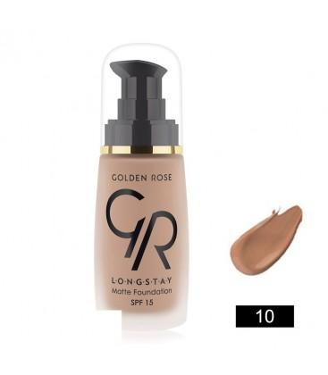 Golden Rose Longstay Matte Foundation-Mat Fondöten 10