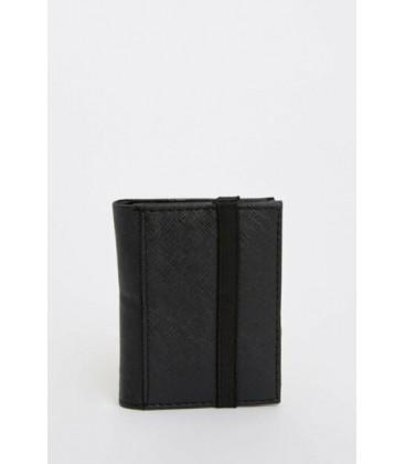 Defacto Erkek Siyah Lastikli Dik Cüzdan, M1414AZ