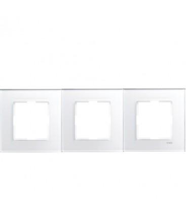Viko Novella Cam Düz Beyaz Üçlü Çerçeve - 92092243