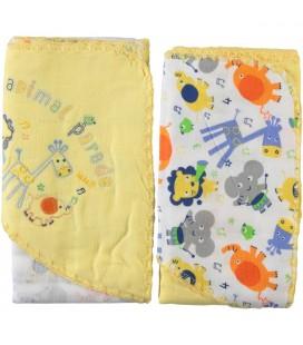 Minidamla 2'li Organik Battaniye 85x95 cm Sarı