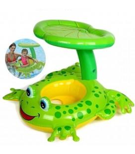 İntex Sevimli Gölgelikli Kurbağa Bebek Simidi Bebek Flotoru