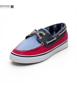 navySperry Bahama Canvas Kadın Ayakkabı Red/Blue/