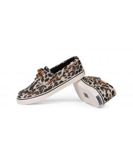 Sperry Bahama Canvas Kadın Ayakkabı Siyah Leopar