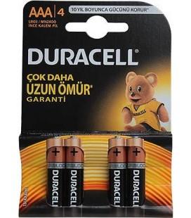 Duracell Lr03/mn2400 Alkalin Aaa 4 İnce Kalem Pil 4lü
