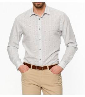 Altınyıldız Classics Desenli Beyaz Uzun Kollu Gömlek 4R2018100137