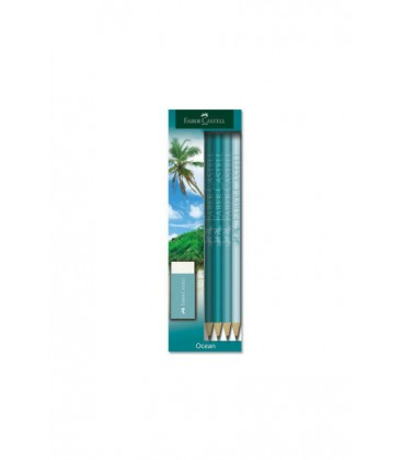 Faber Castell Faber Ocean Kurşun Kalem 4 Lü Set