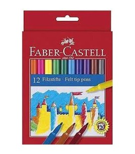 Faber Castell Unicolor Keçeli 12'li 554212