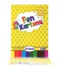 Fon Kartonu 10 Renk Karışık 24X34 Cm - Çınar Defter