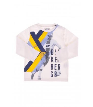 Bikkembergs Ekru Erkek Çocuk T-shirt 3232DNMTE59