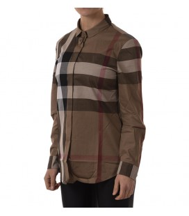 Burberry Kadın Gömlek Blouse aaluf Cotton Woman Brown 3976504 1003