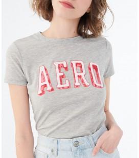 Aeropostale Açık Gri Kadın Tişört 4368