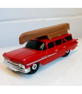 Matchbox Metal Oyuncak Araba 1/125 - 2018 - 1959 Chevy Impala Wagon Canoe Sports