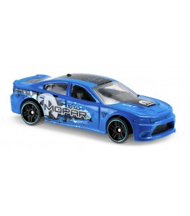 Hot Wheels Oyuncak Araba - '15 Dodge Charger SRT Blue 2016 HW Speed Graphics 9/365