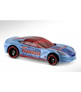Hot Wheels Oyuncak Araba - '14 Corvette Stingray HWPD Blue 2016 HW Rescue 20/365