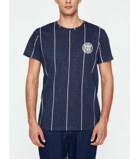 Koton Erkek Çizgili T-Shirt - Lacivert Çizgili, 9KAM11519MK01M