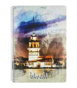 Keskin Color İstanbul Kız Kulesi A4 Çizgili Defter - 80 Yaprak 321921-99