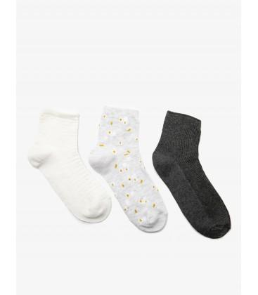 Koton Kadın 3'lü Çorap - Beyaz - 9KAK82149AA000