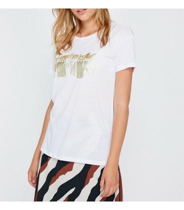 Koton Kadın Baskılı T-Shirt - Beyaz 9KAK13856GK000