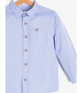 Koton Erkek Çocuk Cep Detaylı Gömlek - Mavi 9KKB66079OW600