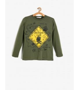 Koton Erkek Çocuk Yazılı Baskılı T-Shirt - Haki 9KKB16399OK886