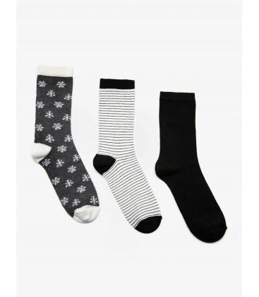 Koton Kadın Çorap 3'lü Kadın Çorap - Gri 9KAK82035AA040