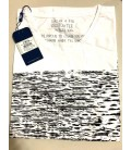 FBI Erkek Tişört Siyah Gri Desenli 18Yf1Ek05050