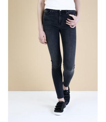 Colins Kadın 760 Diana Dar Kesim Yüksek Bel Dar Paça Siyah Jean Pantolon CL1034556