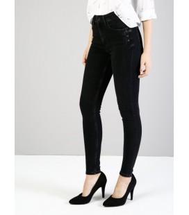 Colin's Kadın 760 Diana Dar Kesim Yüksek Bel Dar Paça Siyah Jean Pantolon CL1033843