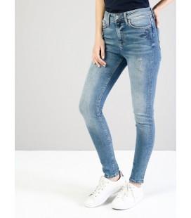 Colin's Kadın 760 Diana Dar Kesim Yüksek Bel Dar Paça Mavi Jean Pantolon CL1035522