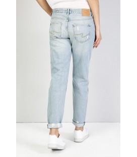 Colin's Kadın 893 Julia Normal Kesim Orta Bel Tapered Leg Mavi Jean Pantolon CL1036252