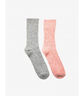 Koton Kadın Çorap Pembe Gri Bayan Kadın 2'li Çorap 9KAK82000AA909
