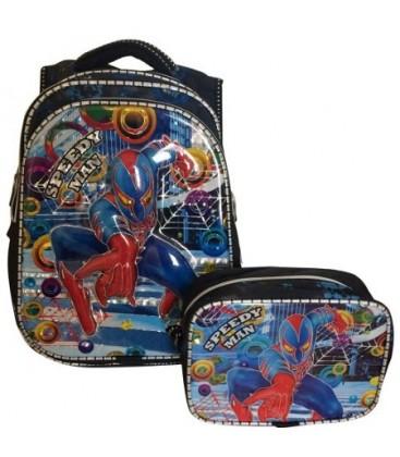 Mikro Erkek Çocuk Okul Çantası Beslenme Çantası Hediyeli Spiderman Çanta