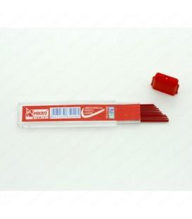 Mikro Min 2B 60 MM 0.7 Mekanik Kalem Ucu Kırmızı 24 Tablet
