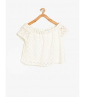 Koton Dantel Detaylı Bluz - Beyaz 8YKG67287OK000
