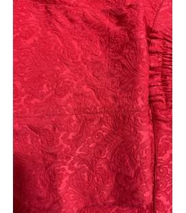 Lim Büyük Beden Kırmızı Desenli Kadın Pantolon - Yan Benden Lastikli
