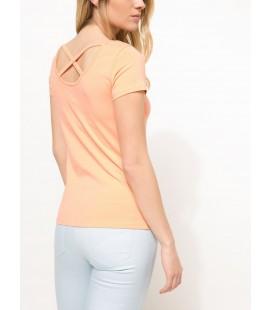 Defacto Kadın Slim Fit Baskılı T-shirt Turuncu I1135AZ.18SP.OG189
