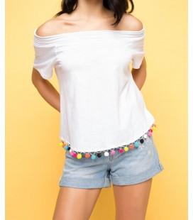 DeFacto Kadın Ponpon Detaylı Bluz H2782AZ