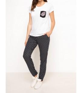 Defacto Kadın Yüksek Bel Desenli Pantolon G7057AZ