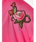 Koton Kadın Tişört Nakış Detaylı T-Shirt - Fuşya 7YAK13912EK300